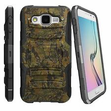 For Various Samsung Phone Models Hybrid Impact BeltClip Case Abstract Camouflage