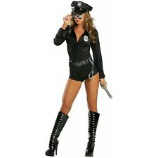 Sexy Cop Costume Adult Police Woman Officer Halloween Fancy Dress