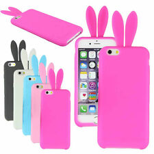 """Lovely Cute Bunny Silicon Rabbit Stand Holder Soft Cover Case For iPhone 6 4.7"""""""