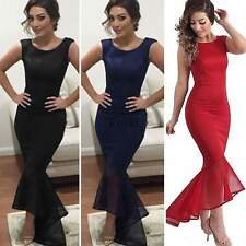 New Women Patchwork Formal Evening Cocktail Party Bridesmaid Long Dress TXWD
