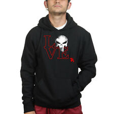 Love Badass Punisher Skull Superhero Sweatshirt Hoodie Shirt