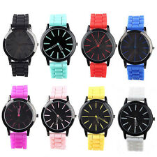 New Men Women Couple Geneva Silicone Jelly Gel Quartz Analog Sports Wrist Watch