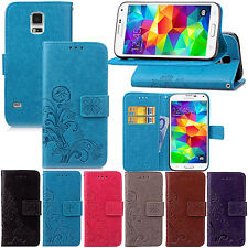 Retro Pattern Leather Wallet Card Stand Case Cover For Samsung Galaxy S5 I9600