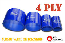 4Ply Straight Silicone Hose Coupling Connector Silicon Tube Joiner Pipe 5mm Blue