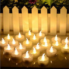 Button Battery Electronic LED Flameless Flickering Candle Tea Light Wedding Xmas