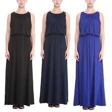 New Woman Summer Halter Neck Long Party Evening Dress Plus Size US 14 18 22 26