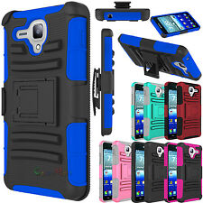 For Kyocera Hydro Reach C6743 Hybrid Shockproof Holster Rugged Armor Case Cover