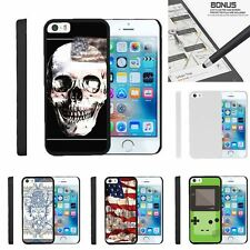 For Apple iPhone SE| iPhone 5| iPhone 5s| Slim Fit Hard 2 Piece Case USA Skull