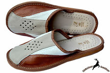 Mens Natural Leather House Slipper Handmade Traditional Sandal Shoes Orthopedic