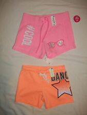 NEW JUSTICE SIZE 7 8 10 CUTE DRAWSTRING ELASTIC WAIST SHORTIE SHORTS W/+DESIGNS