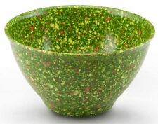 Rachael Ray Melamine Garbage Bowls Nonslip Rubber Base - Speckled Confetti Green