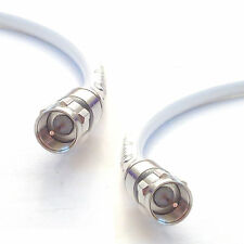 White High Performance RG6 75-Ohm Coaxial 3 GHz TV Cable w/ Solid Copper Center