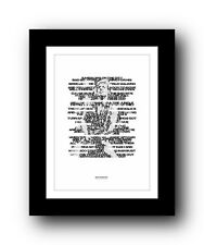 BRUCE SPRINGSTEEN ❤ Tenth Avenue Freeze Out ❤ song lyric poster art Print #34