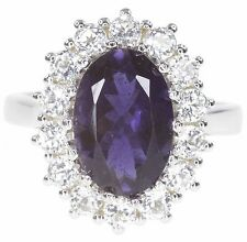 Iolite Gemstone Replica Diana Kate Catherine Engagement Sterling Silver Ring