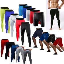 Mens Compression Base Layer Running Tight Gym Pants Under Skins Shorts Leggings