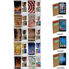 For Nokia Lumia 950XL 950 650 640 Case Music Note Print Wallet Phone Flip Cover