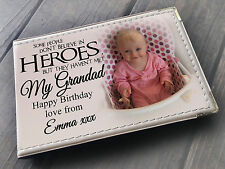 Personalised photo album, Memory book, Grandad my hero, Birthday Christmas gift
