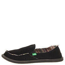 Sanuk Donna Hemp Black Women's Casual Slip Ons SWF1160
