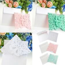 10 Sets Elegant Floral Laser Cut Lace Wedding Invitation Card DIY Craft Cards