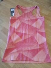 Sexy SLIM SHADED ZUMBA RACERBACK Tank Top ~ Mango Orange ~NEW NWT Workout Gear