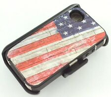 New For Apple Iphone 4/4s Defender Case Cover [Belt Clip Fits Otterbox]USA Flag
