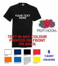 NEW CUSTOM PRINTED T-SHIRT FRUIT OF THE LOOM STAG HEN PERSONALISED CHARITY RUN