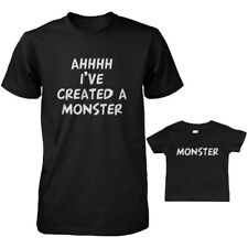 Daddy T-Shirt and Infant T-shirt Matching Set - Ahhh I've Created A Monster