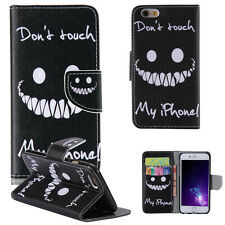 Vogue -MDKT Don't Touch My Phone2 Wallet Body Leather Case Cover For Call Phone