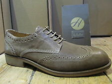 H by Hudson Payne Brogue Taupe Mens Smart Lace Up Leather Formal Shoe