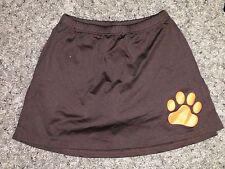 NEW Motionwear Chocolate Brown Orange Paw Print Cheer Dance Skirt 1035 Adult S M