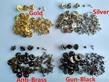 7mm nail brass tie tacks tacs butterfly pin backs clasp clutch findings brooches