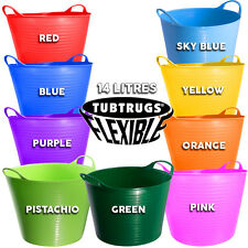 14L GENUINE TUBTRUG FLEXIBLE TOUGH SMALL HORSE FEEDING BUCKET VARIOUS COLOURS