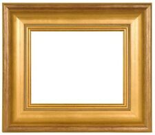 "HIGH QUALITY CLASSIC STYLE PICTURE ART PAINT FRAME WOOD GOLD LEAF 3"" WIDE FREE S"