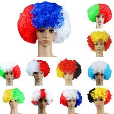 world cup Football Fans Games Supplies Afro Wig Fancy Dress Costume Cosplay WKAU