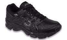 ASICS GEL 190 TR LEATHER BLACK MENS CROSS TRAINING SHOES **FREE POST AUST