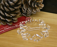Personalised Christmas Tree Decoration Snowflake Bauble Name engraved free