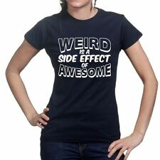 Weird Awesome Geek Nerd Retro Funny Ladies Womens T shirt Colours Sizes