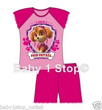 Girls Official Paw Patrol Puppy Dog Skye Shortie Pyjamas 12 Months to 4 Years