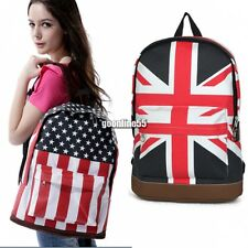 Book Campus Backpack Flag Print Bag Shoulder Unisex Bags Canvas Schoolbag EA9