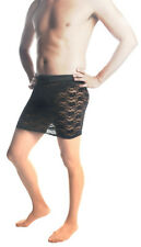 "Mens Skirt, Black Lace Mini Skirt Sexy Style Up To 44"" Waist! Crossdresser/TG"