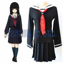 Anime Hell Girl Enma Ai Cosplay Costumes Halloween school girls sailor suits