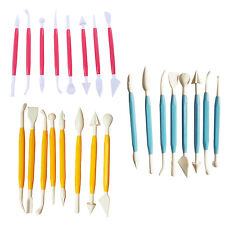HE607 Kids Clay Sculpture Tools Fimo Polymer Clay Tool 8 piece set-3 Colors