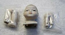 PORCELAIN DOLL MAKING PARTS HEAD ARMS LEGS BOY CHILD CRAFTS PERSON COLLECTOR JR