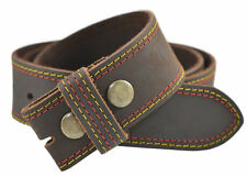 TheBeltShoppe Buffalo Leather Belt Strap w/Contrast Stitching - Brown or Black