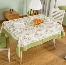 Large Cotton floral lace TableCloths dining table Square Rectangular Table cloth