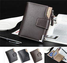 Fashion Men's Leather Wallet Bifold Pockets ID Credit Card Holder Clutch Purse:A