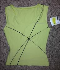 NEW Bal Togs Green Black Dance Jazz Yoga V Front Top Shirt 733 Adult S Small