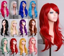 20%off Cosplay Wig Black Brown Blonde Red Purple Gray Heat Resistant Full Wigs
