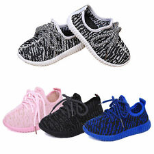 Kids Boys Girls Sports Casual Shoes lace up breathable running sneaker shoes