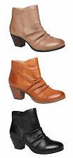 HUSH PUPPIES GALLA WOMENS LEATHER COMFORTABLE ANKLE BOOTS/SHOES
